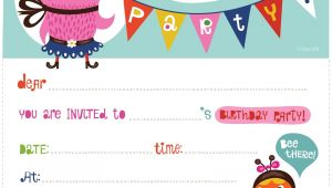 Free Printable Birthday Invitation 100 Free Birthday Invitation Templates You Will Love