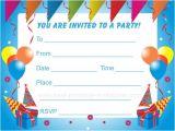 Free Printable Birthday Invitations for Kids Birthday Party Invitations for Kids