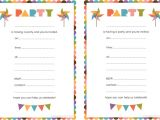Free Printable Birthday Invitations for Kids Free Printable Birthday Invitations for Kids Free