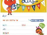 Free Printable Birthday Invitations for Kids orange You Lucky My Printable Birthday Invitation