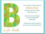 Free Printable Book themed Baby Shower Invitations Book themed Baby Shower Invitations Template