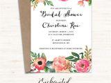 Free Printable Bridal Shower Invitations Cards Printable Bridal Shower Invitation Printable Rustic