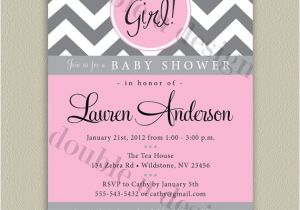 Free Printable Chevron Baby Shower Invitations Chevron Printable Baby Shower Invitation with Color Options