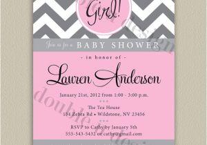 Free Printable Chevron Baby Shower Invitations Chevron Printable Baby Shower Invitation with Color Options