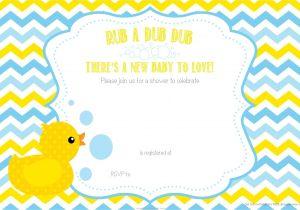 Free Printable Chevron Baby Shower Invitations Free Printable Duck Chevron Baby Shower Invitation