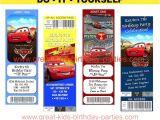 Free Printable Disney Cars Birthday Party Invitations Disney Cars Birthday Party