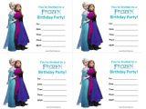 Free Printable Disney Frozen Birthday Party Invitations Frozen Birthday Invitations Free Printable