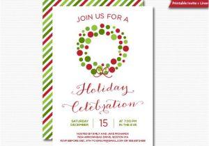 Free Printable Elegant Christmas Party Invitations Christmas Invitation Printable Digital Invitation
