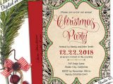 Free Printable Elegant Christmas Party Invitations Elegant Christmas Invitation Christmas Holiday by