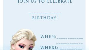 Free Printable Frozen Birthday Invitations 20 Frozen Birthday Party Ideas