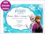 Free Printable Frozen Birthday Invitations 9 Best Of Frozen Birthday Invitations Editable
