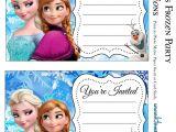 Free Printable Frozen Birthday Invitations Frozen Party Free Printable Invitations