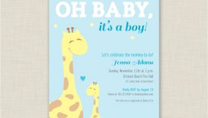 Free Printable Giraffe Baby Shower Invitations Templates Giraffe Baby Shower Invitation Printable Baby Shower