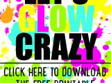 Free Printable Glow In the Dark Birthday Party Invitations Diy Glow Party Invitations Free Printable 18th