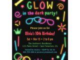 Free Printable Glow In the Dark Birthday Party Invitations Faux Glow In the Dark Birthday Party Invitations Zazzle Com