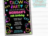 Free Printable Glow In the Dark Birthday Party Invitations Printable Glow In the Dark Birthday Ticket Invitation