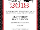 Free Printable Graduation Invitations 2018 Graduation Party Invitations High School or College