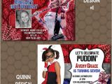 Free Printable Harley Quinn Birthday Invitations Harley Quinn Birthday Party Invitations Printable Uprint