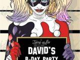Free Printable Harley Quinn Birthday Invitations Harley Quinn Custom Digital Printable Birthday Party