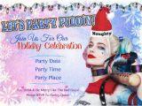 Free Printable Harley Quinn Birthday Invitations Harley Quinn Holiday Party Invitation by Melissanaomidesigns
