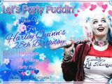Free Printable Harley Quinn Birthday Invitations Harley Quinn Party Invitation Digital File Customized Party