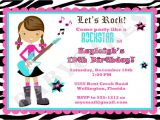 Free Printable Karaoke Party Invitations Birthday Rock Star Birthday Party Invitations