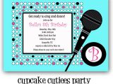 Free Printable Karaoke Party Invitations Cupcake Cutiees New Invitations Party Store