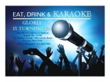 Free Printable Karaoke Party Invitations Karaoke Night Adult Birthday Party Invitation Zazzle