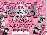 Free Printable Karaoke Party Invitations Vip Rock Star Karaoke Birthday Invitation Di 8018