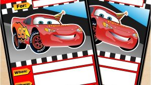 Free Printable Lightning Mcqueen Birthday Party Invitations Free Printable Disney Cars Lightning Mcqueen Birthday