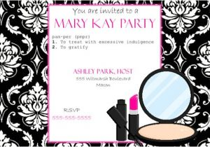 Free Printable Mary Kay Party Invitations Items Similar to Pink and Black Party Invitation Mary Kay