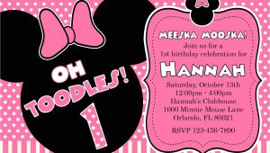 Free Printable Minnie Mouse First Birthday Invitations Free Printable Minnie Mouse 1st Birthday Invitations