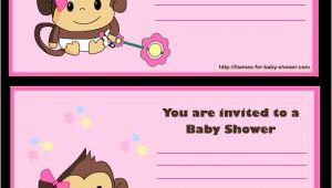 Free Printable Monkey Girl Baby Shower Invitations 5 Free Printable Monkey Baby Shower Invitations Party Xyz