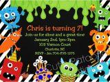 Free Printable Monster Birthday Invitations Monster Birthday Invitation 1st Birthday Monster Party