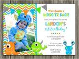 Free Printable Monster Birthday Invitations Printable Boy Monster Birthday Invitation Boy