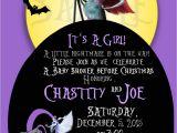 Free Printable Nightmare before Christmas Baby Shower Invitations Nightmare before Christmas Baby Shower Invite