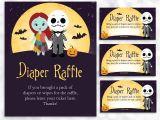 Free Printable Nightmare before Christmas Baby Shower Invitations Nightmare before Christmas Diaper Raffle Sign and Card