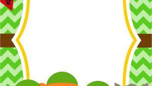 Free Printable Ninja Turtle Party Invitations Free Printable Ninja Turtle Birthday Party Invitations