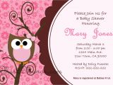 Free Printable Owl Baby Shower Invitations Baby Shower Owl Invitations Printable Pink Owl Custom order