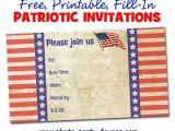 Free Printable Patriotic Birthday Invitations Free Printable Patriotic Invitations Planning A 4th Of