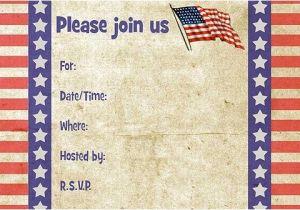 Free Printable Patriotic Birthday Invitations Patriotic Free Printable Fill In Invitations