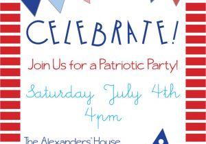Free Printable Patriotic Birthday Invitations Patriotic Party Invitations for Memorial Day 4th Of July or