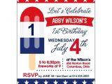 Free Printable Patriotic Birthday Invitations Patriotic Popsicle 1st Birthday Party Invitations