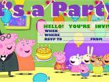 Free Printable Peppa Pig Birthday Invitations Invitations for Sleepover Party