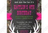 Free Printable Pink Camo Birthday Invitations Camo Girl Printable Invitation Hunting Realtree Diy