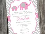 Free Printable Pink Elephant Baby Shower Invitations Pink Elephant Baby Shower Invitation Printable Baby