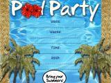 Free Printable Pool Party Invites Free Kids Party Invitations Pool Party Invitation