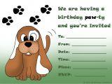 Free Printable Puppy Birthday Invitations Kids Birthday Party Invitations Free Printable 1st