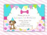 Free Printable Puppy Birthday Invitations Puppy Birthday Invitation Printable Personalized by Pinkthecat