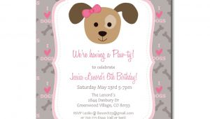 Free Printable Puppy Birthday Invitations Puppy Party Invitation with Editable Text Dog Party